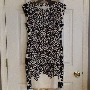 French Connection black and white sheath dress